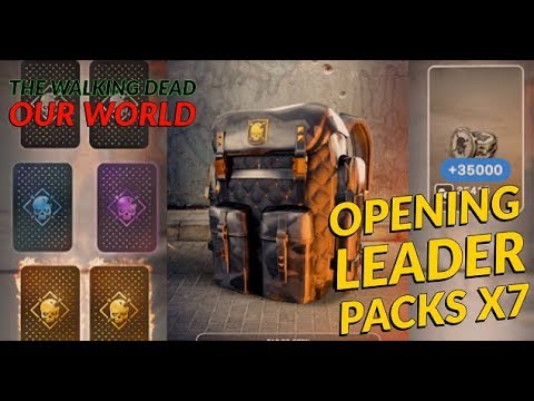 Twdow Opening Leader Packs X 7 For Legendary Cards The Walking