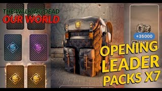 [TWDOW] Opening Leader Packs x 7 for Legendary Cards - The Walking Dead OUR WORLD