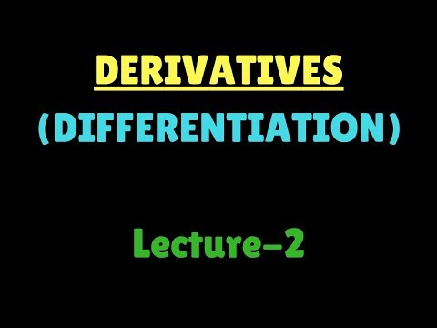 Derivative (Differentiation) lecture 2 in hindi by manoj ghagas