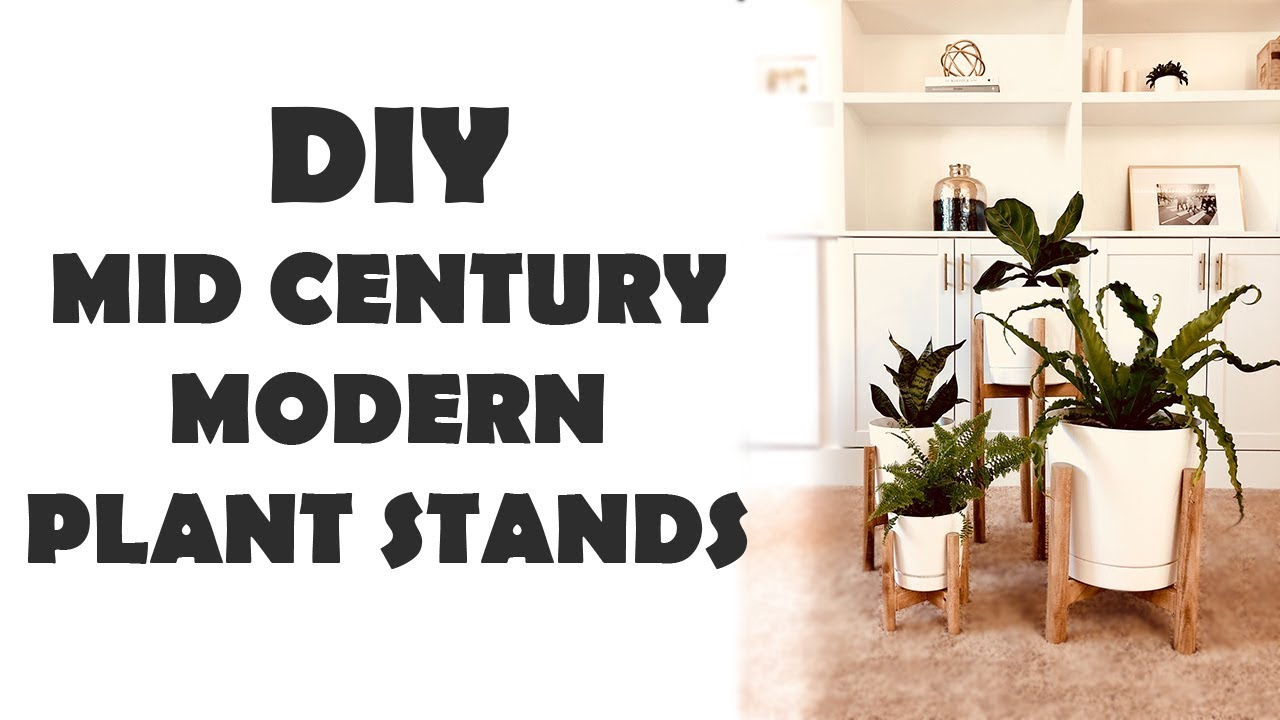 Diy Mid Century Modern Plant Stands Youtube