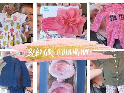 Baby Girl Clothing Haul    Baby #3