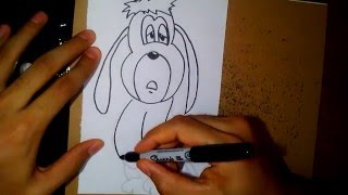 como dibujar a droopy - how to draw droopy