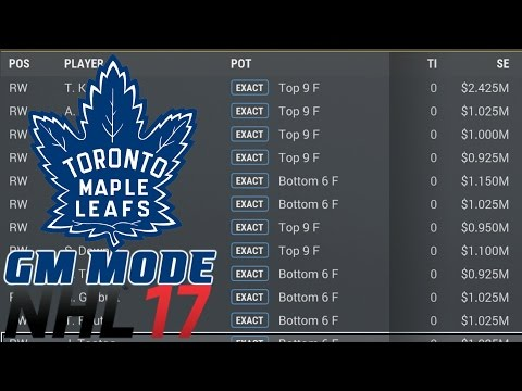 Free Agency - NHL 17 - GM Mode Commentary - Toronto ep. 14