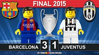 Champions League Final 2015 Barcelona vs Juventus 3 1 Berlin All Goals Highlights Lego Football