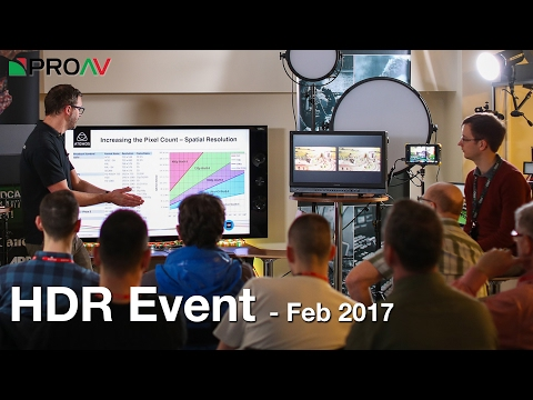 Demystifying HDR and how to shoot for it - Open Day 8th Feb 2017