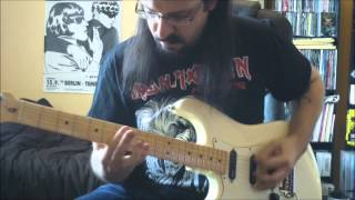 "SLAYER - FULL ""haunting the chapel"" EP on guitar ! - HD - (chemical warfare , captor of sin ...)"