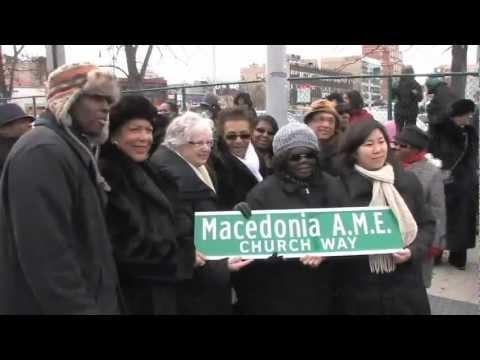 MAMEC Street Sign Unveiling