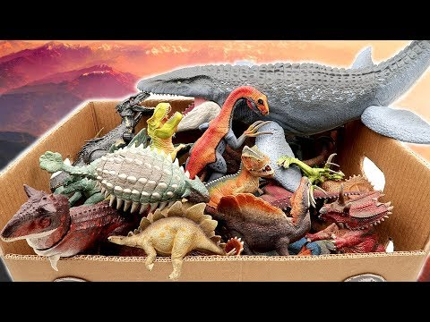 Lot of Jurassic World 2 Dinosaur Toys Box! Learn Dinosaur Names for Kids With Schleich Dino Toys~