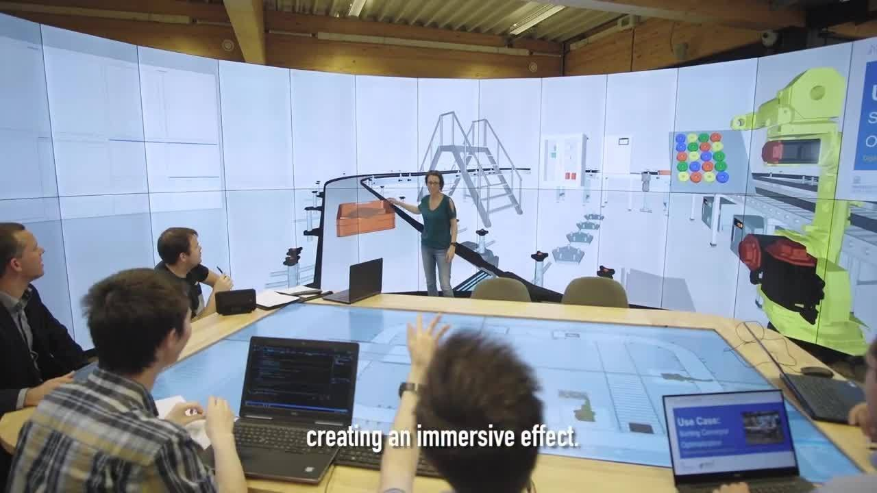 Introducing the Digital Twin Control Room, an immersive LCD video wall  project