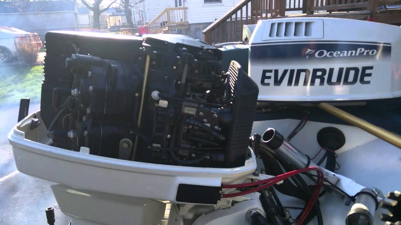 First Start Of 2016 1993 Evinrude 115 Hp