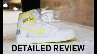 Air Jordan 1 First Class Flight Barcode Retro Sneaker Detailed Honest Review - MUST WATCH!