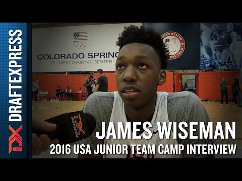 James Wiseman Interview at USA Basketball Junior National Team Camp