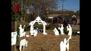 Outdoor Nativity Scene Dedication In Pendleton Sc
