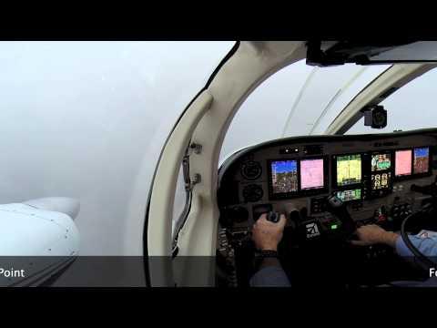 Cessna 340 ILS Approach KADS