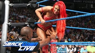 how did eva marie escape an irish lass kicking by becky lynch smackdown live aug 2 2016