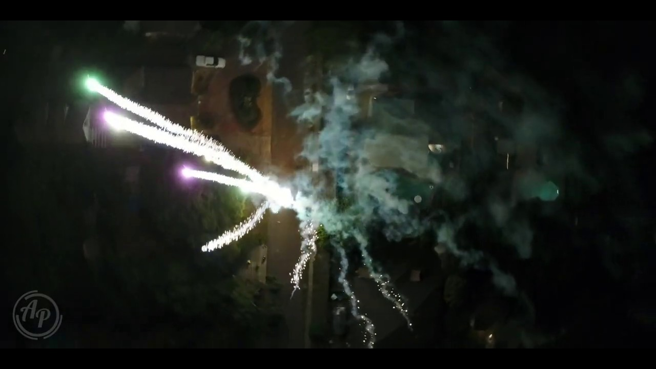 Fireworks from a different perspective...
