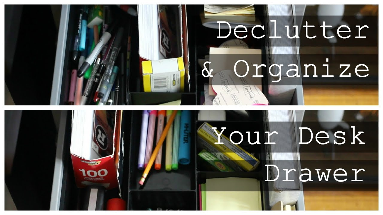How To Organize Your Desk Drawer Youtube
