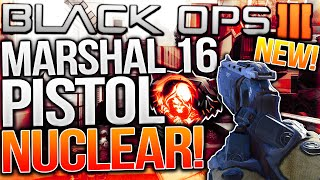 "MARSHAL 16 PISTOL NUCLEAR GAMEPLAY! - NEW ""MARSHAL 16"" NUCLEAR DLC WEAPON! (BO3 Marshal 16 Pistol)"