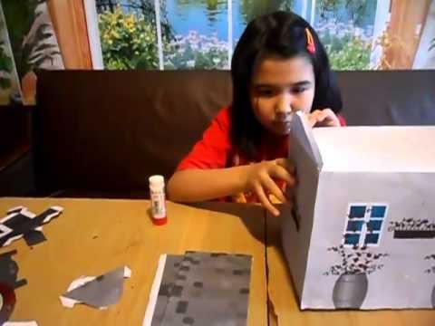 видео: Объемная аппликация - домик-спальня для Монстр Хай