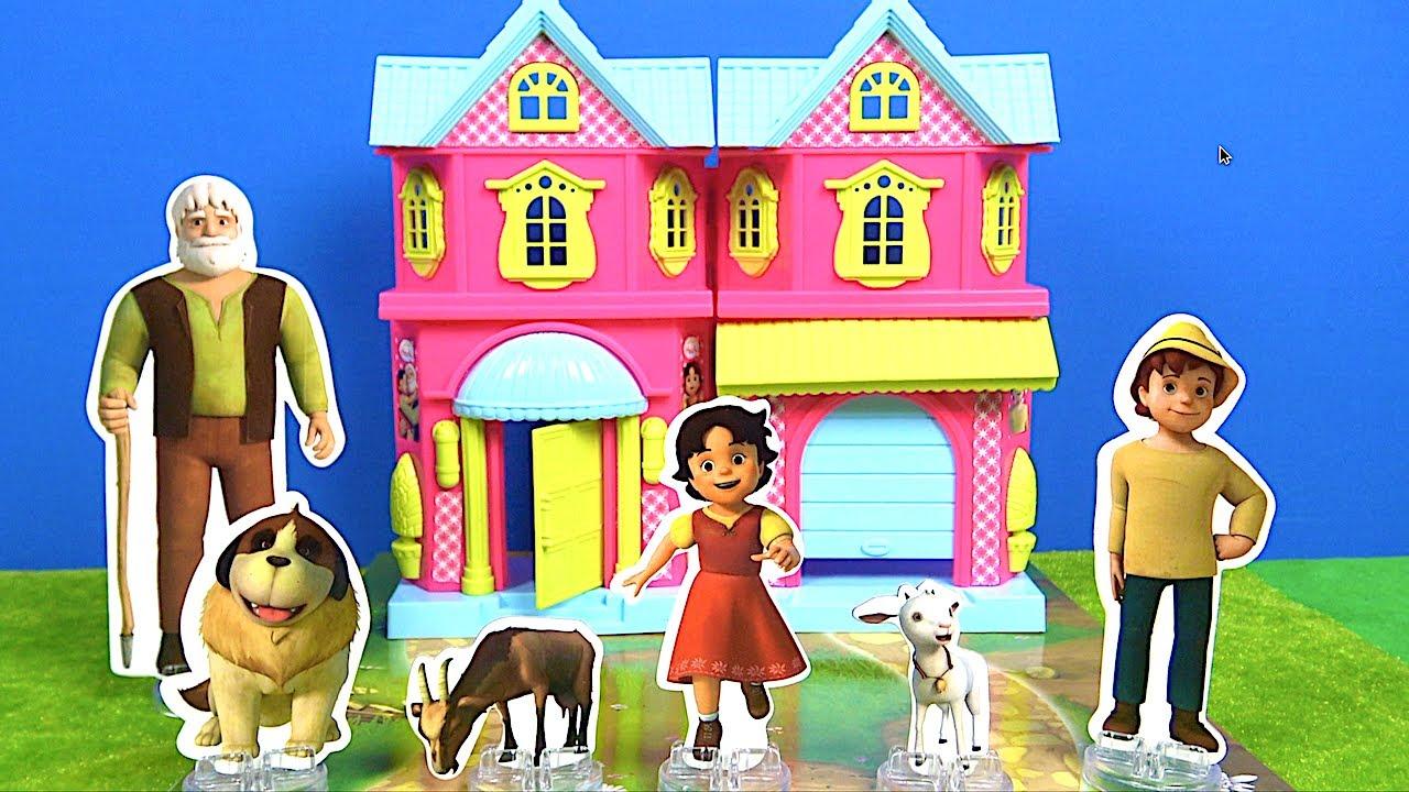 Heidi Bahçeli Ev Seti açıyoruz Heidi evi içerde kim var? Heidi düşüyor Haydi çizgi filmi oyuncakları