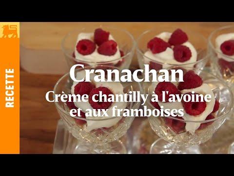 Cranachan - Crème chantilly à l'avoine et aux framboises