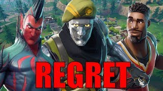 Skins That I REGRET Buying!! - Fortnite