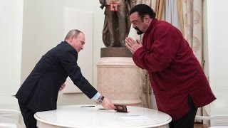 Vladimir Putin grants action hero Steven Seagal Russian passport