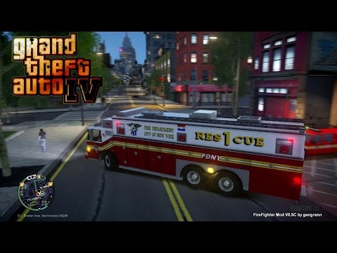 GTA IV - FDNY/ FDLC - Fifth day with the fire department!