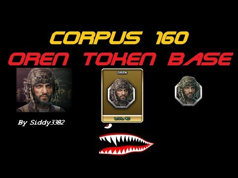 War Commander - Corpus (160) Oren Token Base, Updated Video.