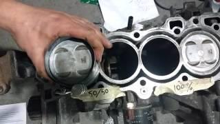 Замена поршневых  колец  Honda cr-v rd1 (для начинающих)