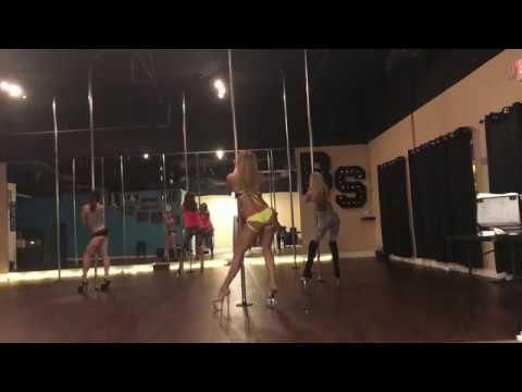 Bom Bidi Bom - Nick Jonas ft. Nicki Minaj Beginner Pole Dance Routine 3-28-17