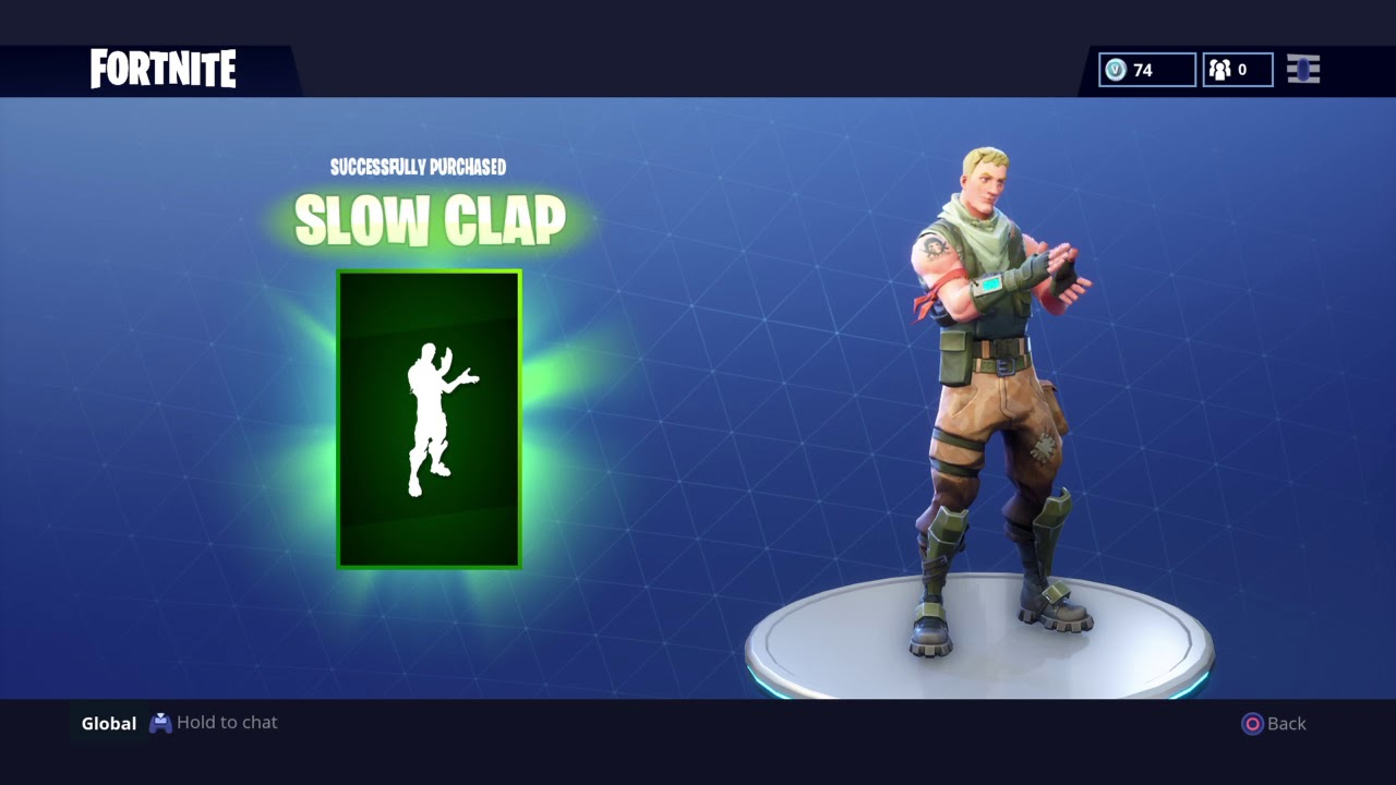 buying slow clap fortnite - slow clap fortnite dance