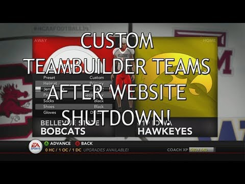 NCAA Football 14 How To Make NEW Teambuilders In 2019!