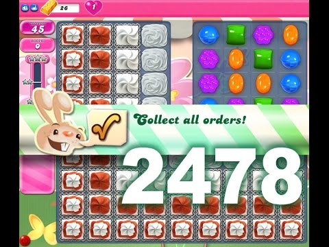 Candy Crush Saga Level 2478 (3 stars, No boosters)
