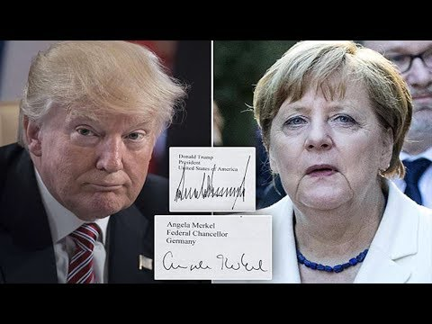 Trump is stubborn, Merkel likes to talk : Handwriting expert reveals what the signatures REALLY say