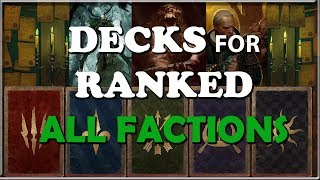 gwent best decks for ranked all factions