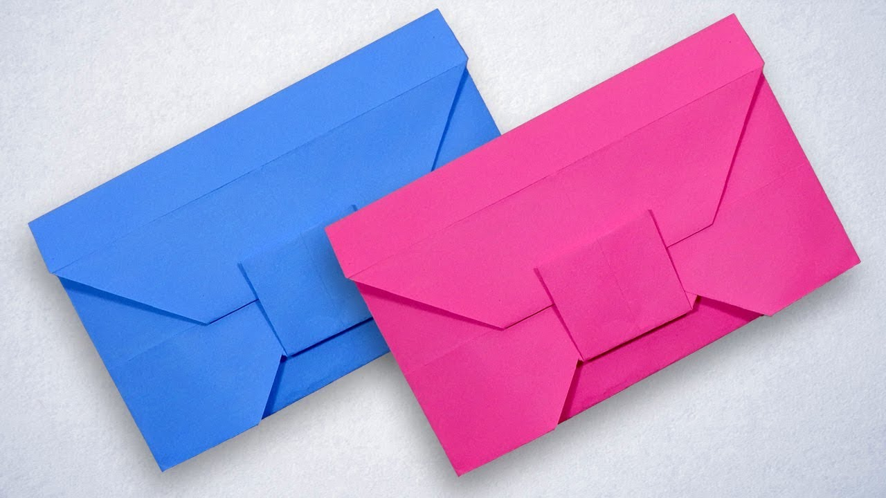 Make Your Own Envelope With Color Paper Step By Diy Without Glue And Tape