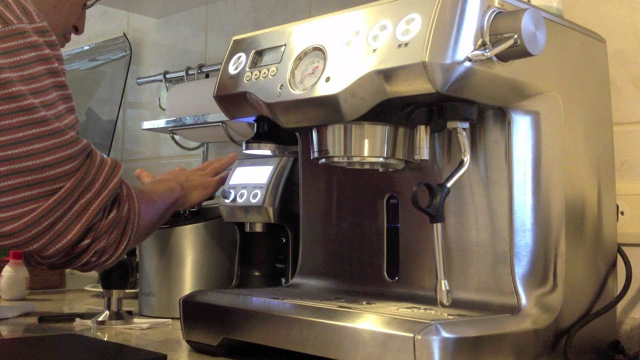 Breville Coffee Maker Grinder Not Working : Breville Dual Boiler Espresso Extraction - YouTube
