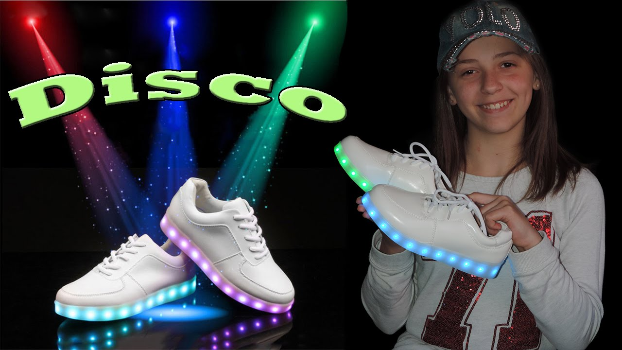 """Célèbre Chaussure LED, Sneakers Baskets Lumineuses """" disco """" - YouTube DQ83"""