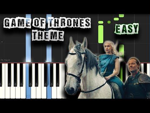 Game Of Thrones Theme - EASY - Piano Tutorial Synthesia (Download MIDI)
