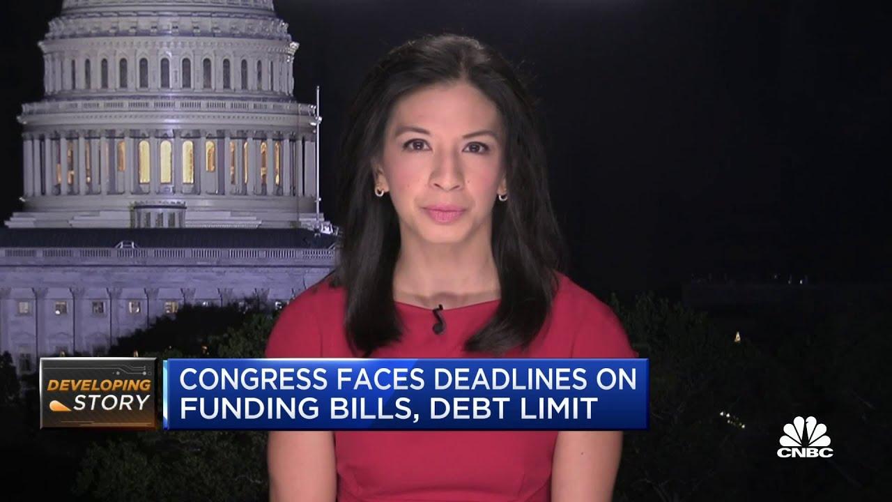 Download Congress faces deadlines on funding bills, debt limit