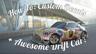GT Sport How To Use Custom Decals! + Best Drift Car?
