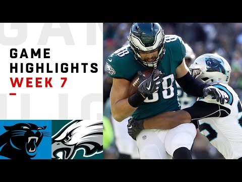 Panthers vs. Eagles Week 7 Highlights | NFL 2018