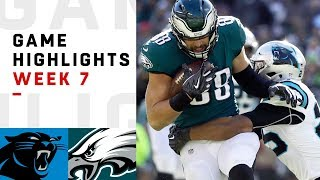 Panthers Vs. Eagles Week 7 Highlights  Nfl 2018