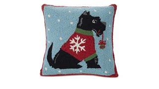 Jeffrey Banks Scottie Decorative HandHooked Wool Pillow