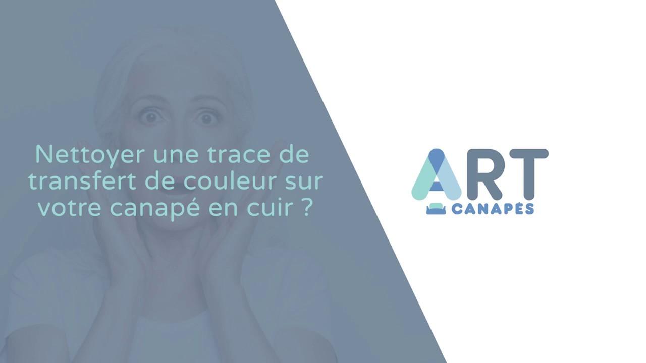 Canapé Cuir Blanc Qui Jaunit art canapés // nettoyer une trace de transfert de couleur sur votre cuir