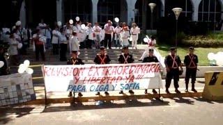 Discurso del Dr. Roberto Mura frente al Palacio de Justicia