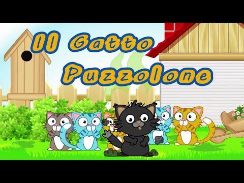 IL GATTO PUZZOLONE - Canzoni per bambini e bimbi piccoli