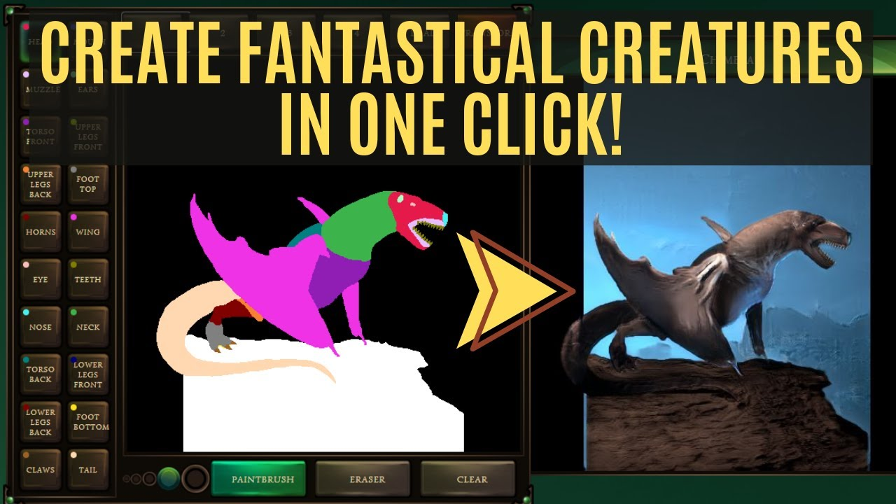 An AI Made For Artists! Create Fantastical Creatures in One Click