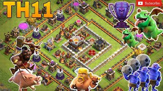 th11 trophy base/coc th11 anti 1 star/anti 2 star trophy pushing base 2018/legend base/clash of clan